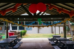 Covered seating area for events